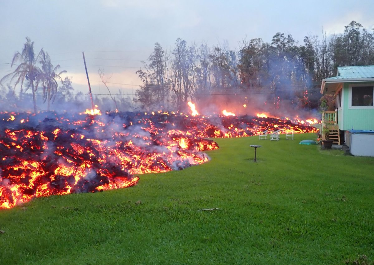 Does homeowners insurance cover volcanoes and lava
